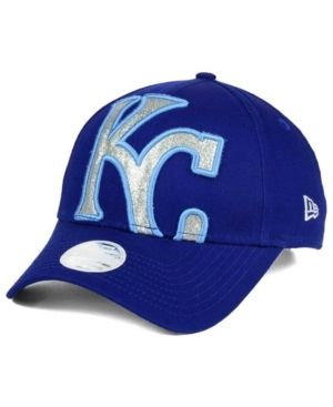 New Era Women s Kansas City Royals Glitter Glam 9FORTY Strapback Cap