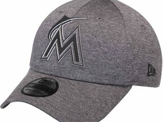 size M l Miami Marlins New Era Clubhouse Collection Classic 39THIRTY Flex Hat