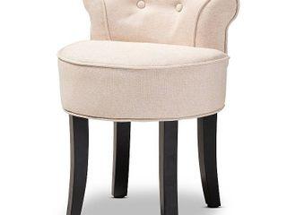 Cerise Small Accent Chair Beige   Baxton Studio