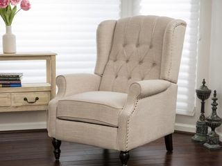 Christopher Knight Home Walter light Beige Fabric Recliner Club Chair  Retail 326 99