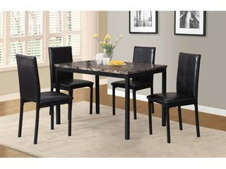 CHAIRS ONlY Citico Metal Dinette Set  Black  Retail 245 99