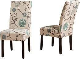 Pertica Contemporary Fabric Dining Chairs  Set of 2  by Christopher Knight Home  Retail 148 49