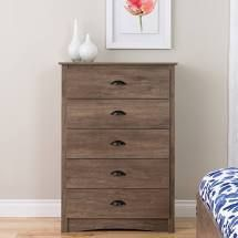 Porch   Den Church Driftwood Grey 5 drawer Chest  Retail 240 40