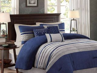 Madison Park Turner Blue Comforter Set  Retail 136 82