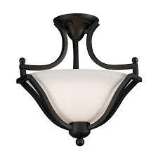 lagoon Matte Black 2 light Semi Flush Mount  Retail 112 00