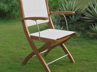 International Caravan Royal Tahiti Textilene Patio Dining Chair  Set of 2  Retail 229 99