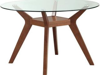 Base ONlY Carson Carrington Videbaek Walnut Dining Table Base  Retail 172 18