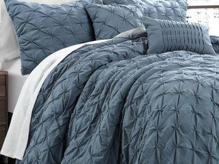 Ravello Pintuck 5 Piece King Comforter Set Bedding