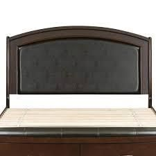 Avalon Dark Truffle Queen Panel leather Headboard  Retail 324 99