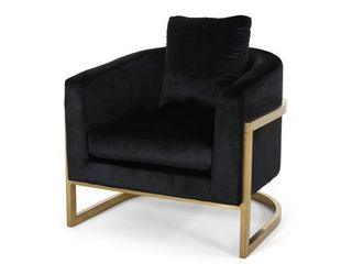 Briarcliff Modern Velvet Glam Armchair with Stainless Steel Frame by Christopher Knight Home  Retail 539 49