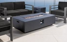 Cape Coral Outdoor Aluminum Fire Table by Christopher Knight Home Retail Value  700