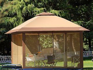 Outdoor Pop Up Gazebo Canopy Mosquito Netting Solar lED light  Retail 283 49