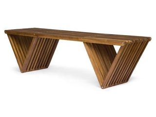 Metropol Outdoor Acacia Wood Bench by Christopher Knight Home  Retail 169 99