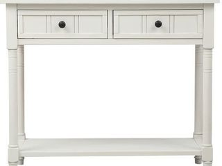 Copper Grove Barregarrow 2 drawer Console Table and Bottom Shelf  Retail 339 99