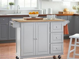 3 drawer Drop leaf Kitchen Cart   Retail 363 00