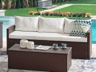 Vital 2pc Outdoor Sofa   Coffee Table Set  Retail 395 99