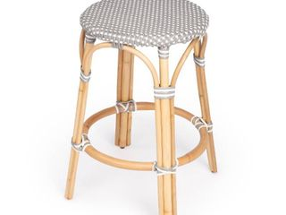Handmade Tobias Rattan Counter Stool  Retail 209 00