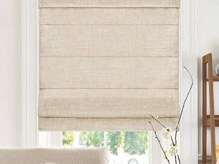Chicology Belgian Flax Cordless Roman Shades