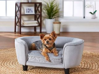 Enchanted Home Pet Coco Pet Sofa   light Grey  Retail 91 99