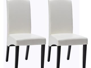 Modern Faux leather 2 Piece Dining Room Chair  Retail 222 49