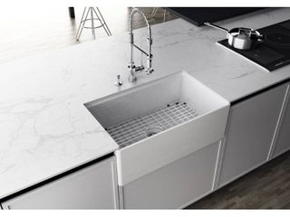 EMPIRE Devon 30 in  Fireclay Workstation Reversible Farmhouse Kitchen Sink  Retail 382 49