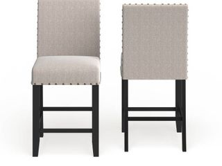 Strick   Bolton Gallaccio 25 inch tan Fabric Stool  Set of 2    40 H x 18 3 W x 22 3 l  Retail 154 99