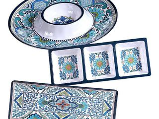 Certified International Talavera 3 Pc  Melamine Hostess Set
