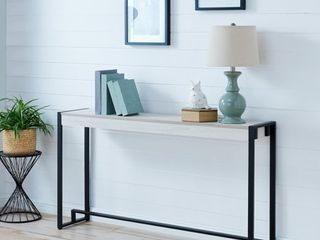 Macen Console White Black   Holly   Martin
