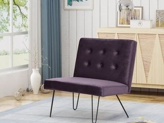 Darrow Modern Velvet Armless Chair by Christopher Knight Home