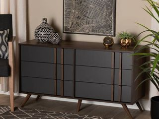 Naoki Modern and Contemporary 6 Drawer Bedroom Dresser  Retail 249 49