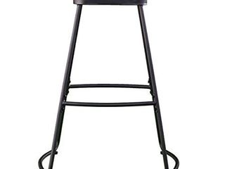 PAIR ROlDAN BAR STOOlS   MATTE BlACK