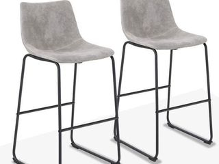 Carbon loft Prusiner Faux leather Counter Stool  Set of 2  Retail 167 99