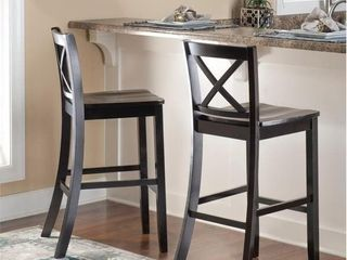 Copper Grove Frunza Black X back Bar Stool   Retail 96 99