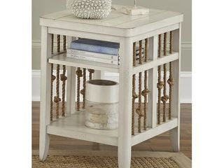 Dockside II White Chair Side Table  Retail 317 49