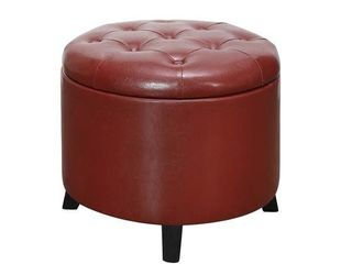 Copper Grove Chrysanthemum Round Ottoman  Retail 89 49