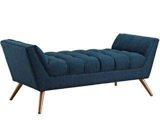 Carson Carrington lieksa Mid century Medium Fabric Bench  Retail 282 99