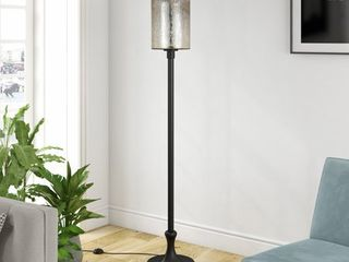 Neo Metal Floor lamp with Mercury Glass Shade  Retail 102 00