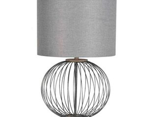 lamps Per Se 30  inch Metal Table lamp with Grey Shade  Retail 118 99