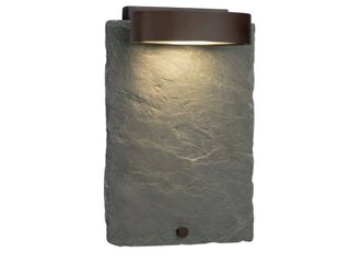 Justice Design Group Slate litho Dark Bronze Outdoor Wall Sconce  Natural Slate  Retail 136 99