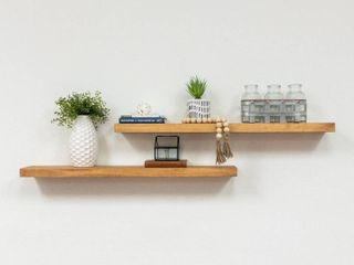 Del Hutson Designs True Floating Shelves  Set of 2  36