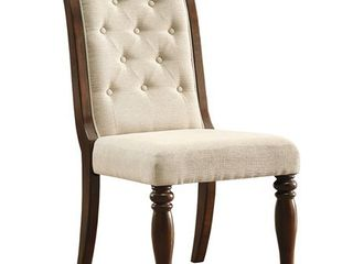 Ashley Furniture Porter Tufted Dining Side Chair in Rustic Brown