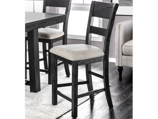 Furniture of America Herr Rustic Black Fabric Counter Chairs  Set of 2  Retail 246 99