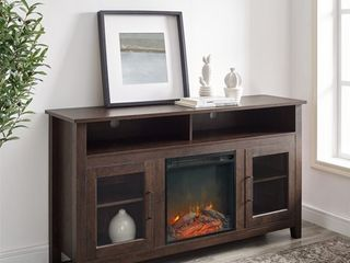 58 inch Highboy 2 Door Fireplace TV Stand Console  Retail 358 49