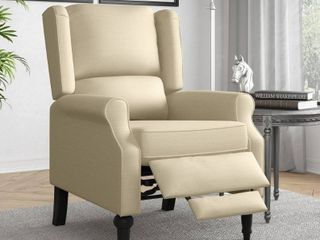 Copper Grove Cale linen Wingback Push Back Recliner Chair  Retail 338 49