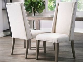 Abbyson lillian Neutral Acacia Polyester Dining Chair  Retail 597 49