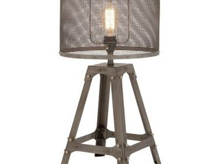 23 Inch Industrial Iron Quadripod Mesh Table lamp by Studio 350  Retail 114 98