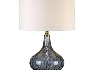Uttermost Sutera 1 light Transparent Blackcurrant Glass Table lamp  Retail 297 00