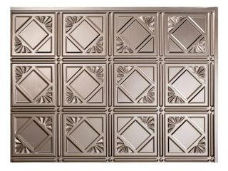 Fasade Traditional Style  4 Brushed Nickel 18 inch x 24 inch Backsplash Panel