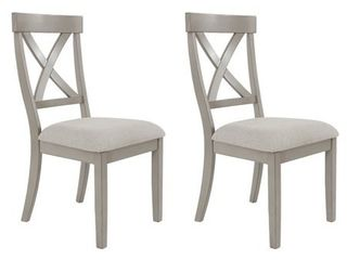 Signature Design by Ashley Parellen Upholstered Barstool Set of 2 Gray
