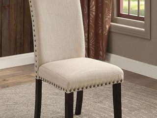 Side Chair  Black and Beige
